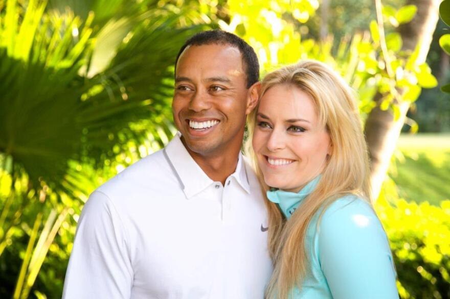 Lindsey Vonn and Tiger Woods.