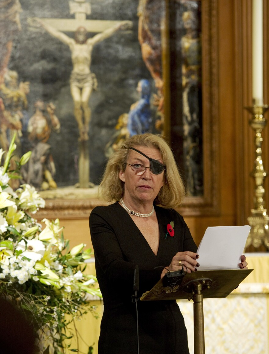 Marie Colvin (shown here in 2010), a celebrated foreign correspondent with <em>The Sunday Times</em>, was killed in shelling while she covered the civil war in Syria in 2012. Her family filed a wrongful death lawsuit accusing the Syrian regime of deliberately killing her.