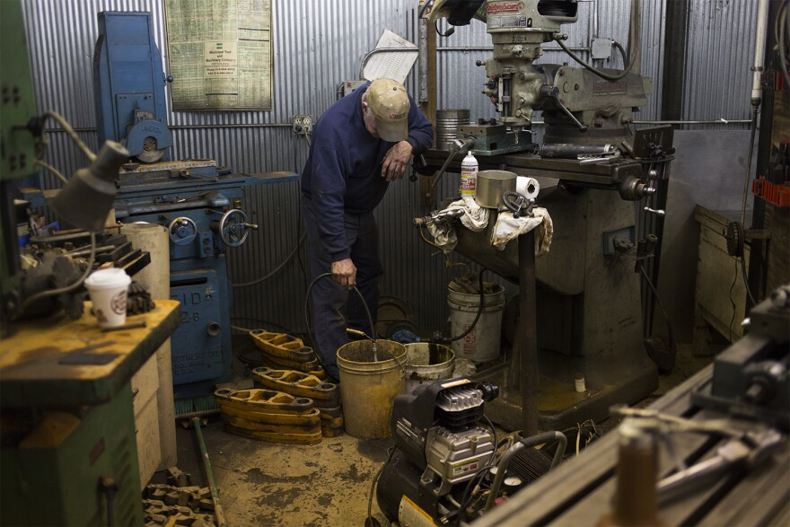 The machine shop is critical to making repairs and creating the parts for new projects for the engines at the Wabash, Frisco and Pacific Railroad Association. But it was damaged during the floods.