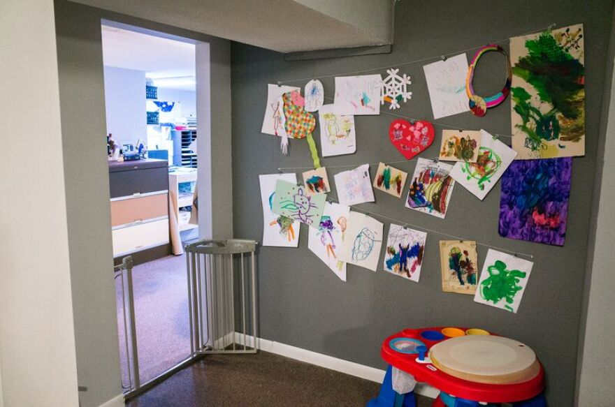 Tate Foley's kids offered their own Open Studios display.