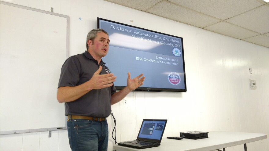 EPA on-scene coordinator Jordan Garrard spoke at a neighborhood meeting two weeks ago.