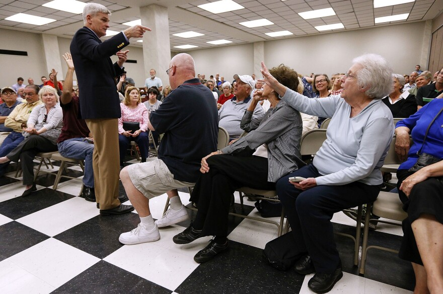 Sen. Bill Cassidy, R-La., responds to constituents concerned about their coverage under the Affordable Care Act.