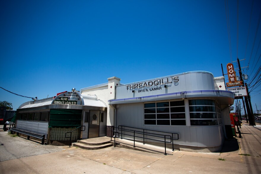 The facade of the original Threadgill's on North Lamar, which closed in April.