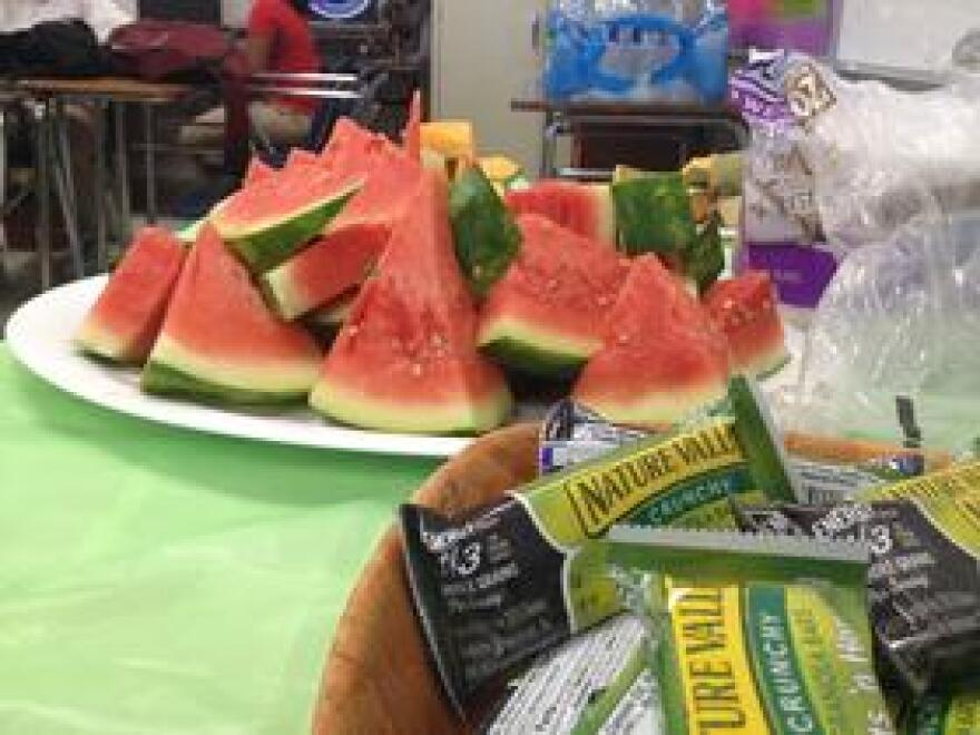 HIP founder Risa Berrin says the program always provides food during after school training sessions because some students don't get regular meals at home.