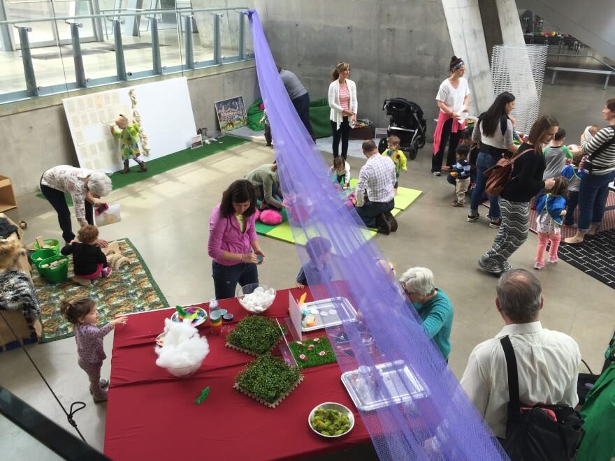 lobby of art museum