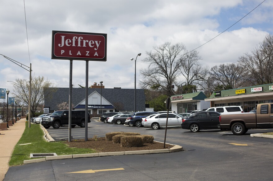 Business owners in Jeffrey Plaza on Olive Boulevard say they have not been receiving updates about a proposed development that would displace them.