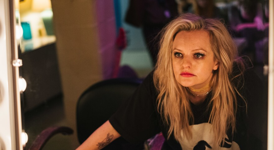 "Elisabeth Moss plays Becky Something, a punk singer struggling with substance abuse, in the new film <em>Her Smell. </em>""It was the hardest dialogue I've ever had to learn,"" she says."