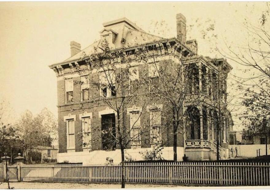 A photo of the Haniszewski's home taken around 1910, about 30 years after it was built.