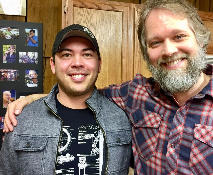 Eric Manicsic and songwriter Brent Kirby