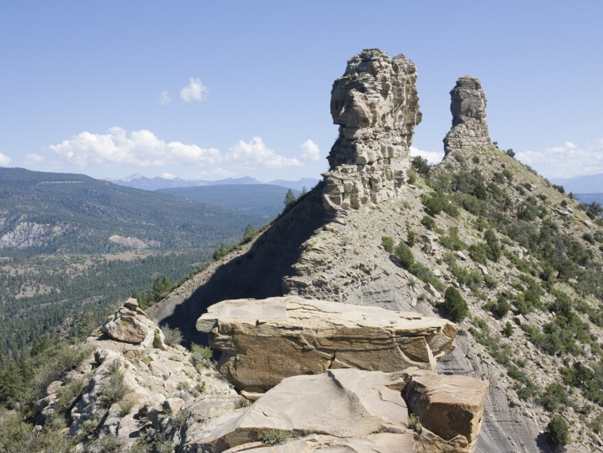 A large sandstone feature in southwestern Colorado, Chimney Rock became America's newest national monument on Friday.