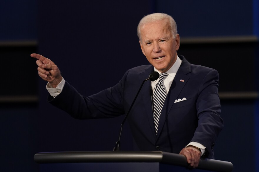 Democratic presidential candidate former Vice President Joe Biden at the first presidential debate Sept. 29 in Cleveland.