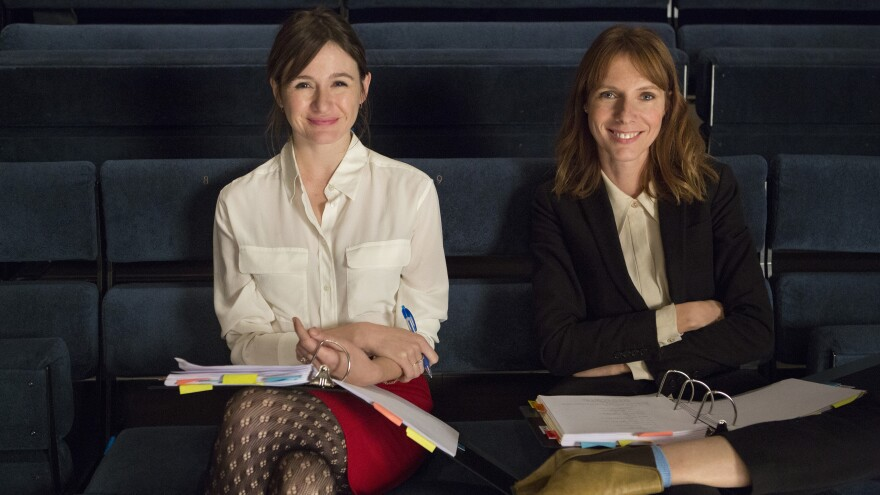 Real-life best friends Emily Mortimer and Dolly Wells star in HBO's <em>Doll & Em</em>, in which fictional versions of themselves try to write an off-Broadway play together.