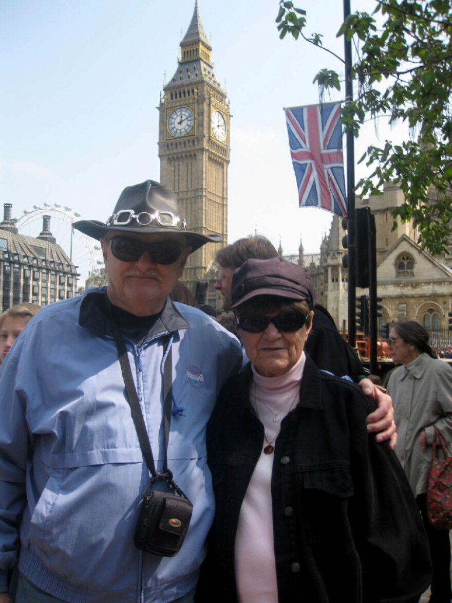 """Harry and Jeanne Lord of New Jersey traveled to London for the wedding. Their kids think they're """"insane"""" for coming, they say."""