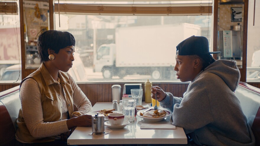 """Lena Waithe's character, Denise, comes out to her mother (played by Angela Bassett) in the """"Thanksgiving"""" episode of <em>Master of None</em>."""