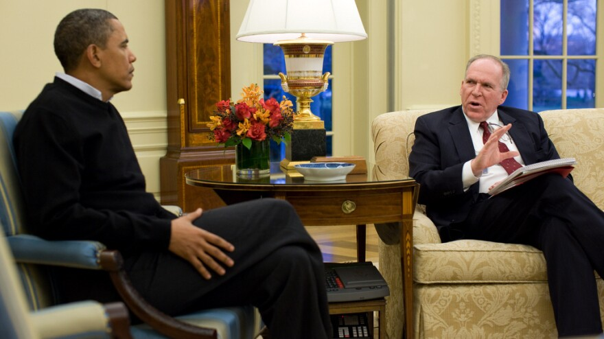 "President Obama and John Brennan, his top counterterrorism adviser, in the Oval Office on Jan. 4, 2010. Brennan is a key voice about who gets put on the ""kill list."""
