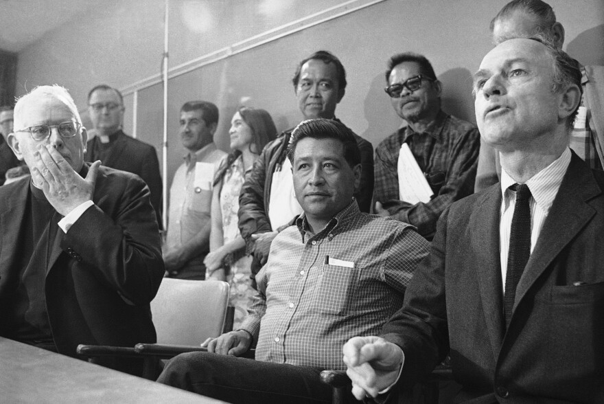 A judge jails Chavez and says he will stay behind bars until he calls off a nationwide lettuce boycott, Dec. 5, 1970.
