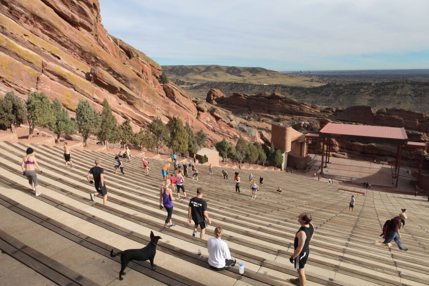 Excercises at Red Rocks Amphitheatre