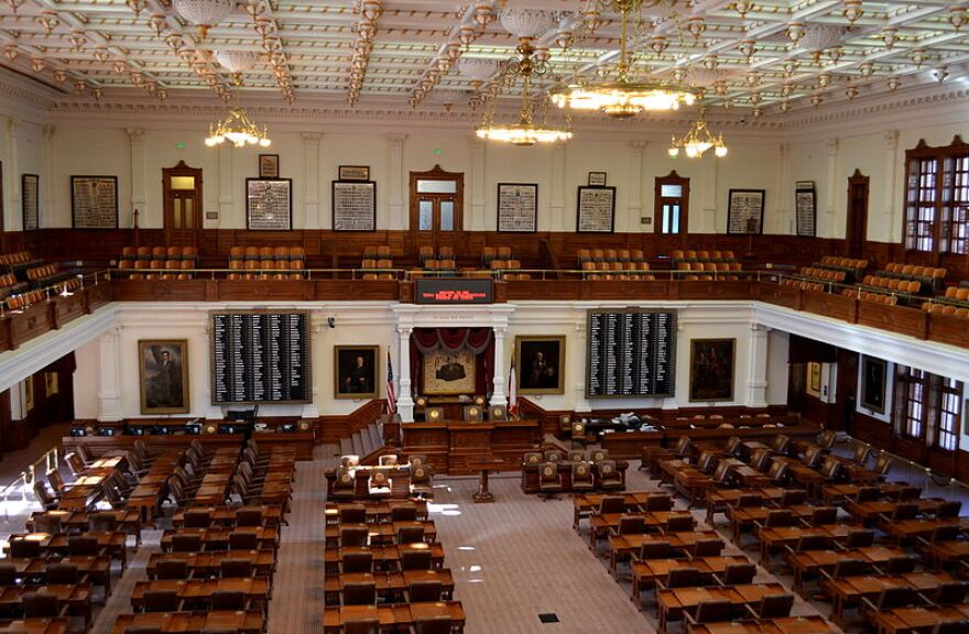 The Texas State Capitol's house chamber.