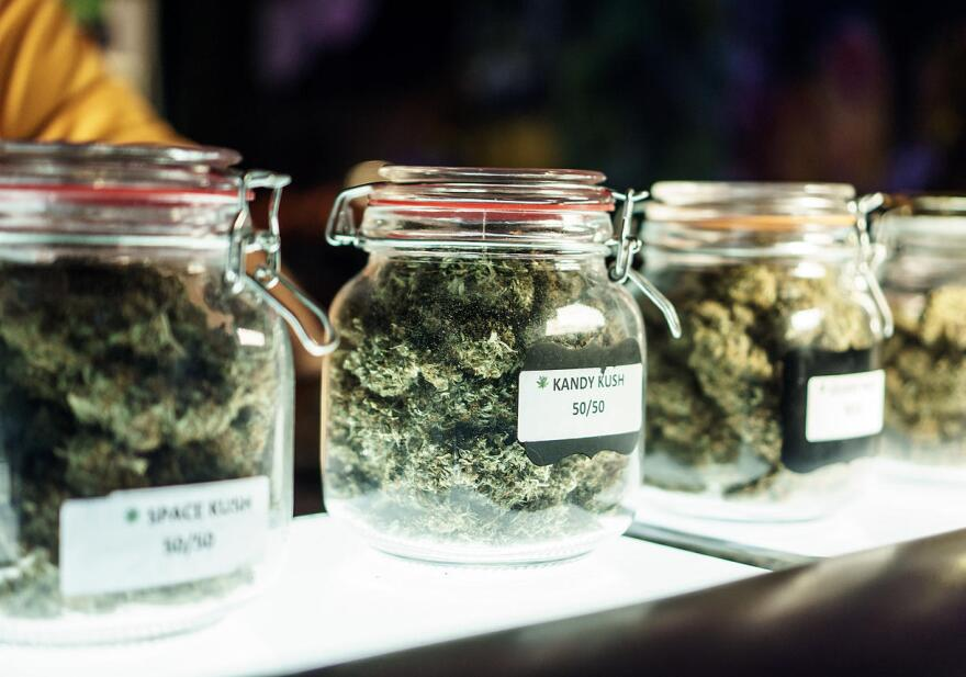 Jars Of Cannabis Flowers