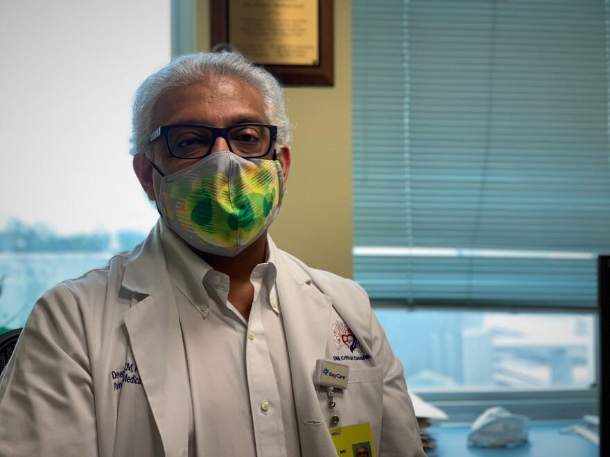 Dr. Devandra Amin of Clearwater contracted the virus in late March, when scientists and physicians knew very little about how to treat it. He recovered, and has helped care for COVID-19 patients ever since.