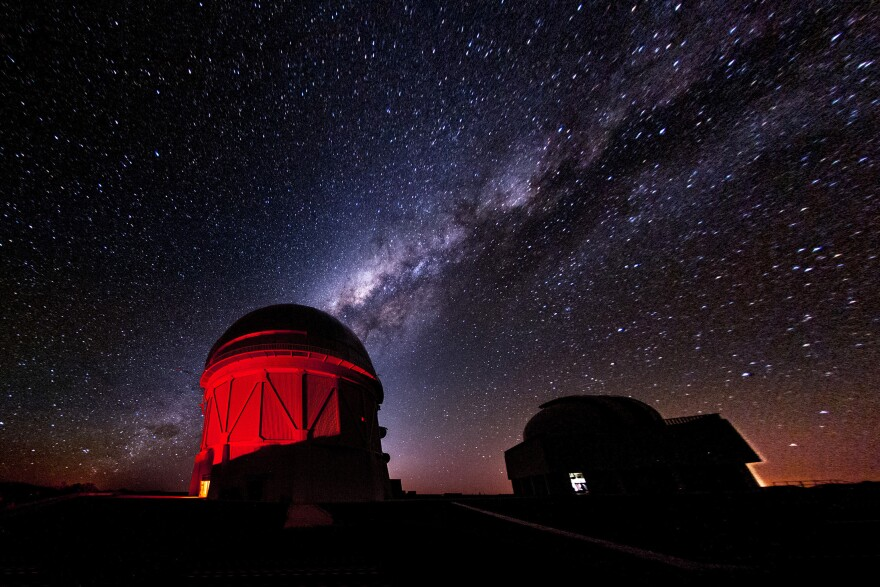Stars over the Cerro Tololo Inter-American Observatory in Chile. Sheppard and Trujillo used the new Dark Energy Camera (DECam) on a telescope there to find the distant dwarf planet 2012 VP 113.