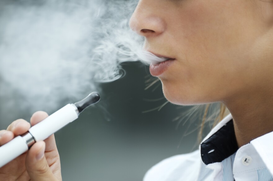 Many e-cigarettes or electronic vapor products (EVP) contain nicotine found in real cigarettes.