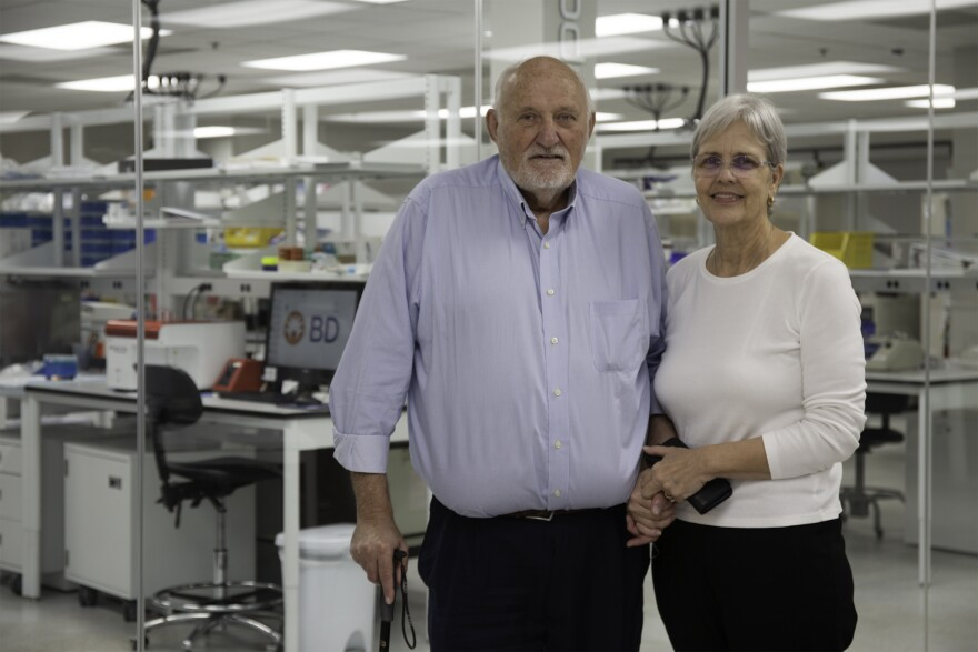 Dr. Michael Lawman and Dr. Patricia Lawman head up the Tampa-based biotech company Morphogenesis, which developed ImmuneFX as a cancer vaccine.