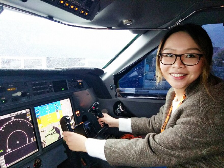 Dai Xuan, 30, who works as the editor of a luxury magazine in Shanghai — and is pictured at the helm of a private jet — says the reason why she hasn't married yet is economic. She says she loves her job and she makes more than enough to support herself, which has made her pickier about dating.