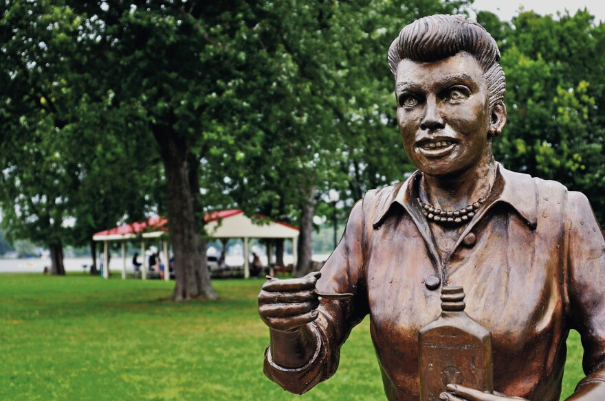 A bronze sculpture of Lucille Ball is displayed in Lucille Ball Memorial Park in her hometown of Celoron, N.Y. Since the sculpture was unveiled in 2009, it has been blasted by critics who say it bears little or no likeness to the popular 1950s sitcom actress and comedian.