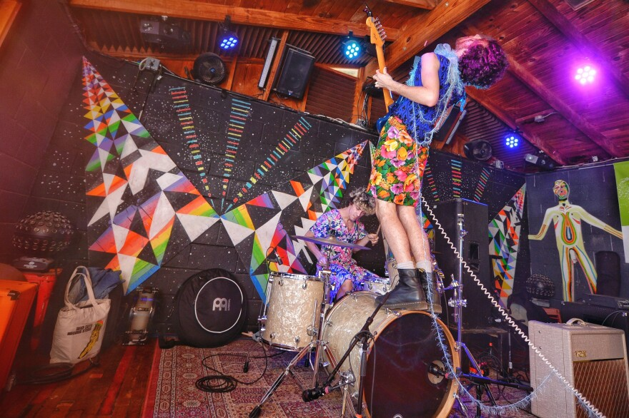 PWR BTTM performs at Cheer UP Charlies during SXSW in March 2016.