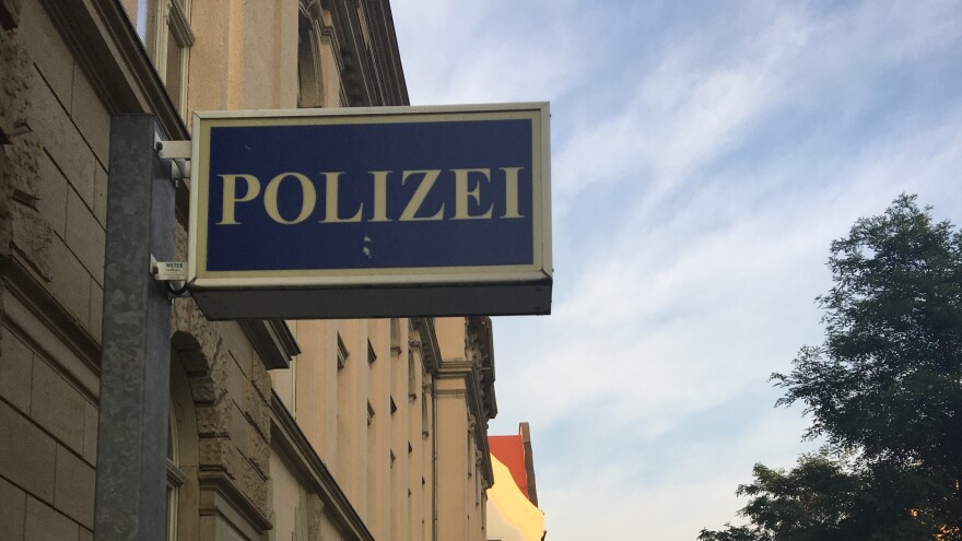 Police station in Chemnitz, Germany.
