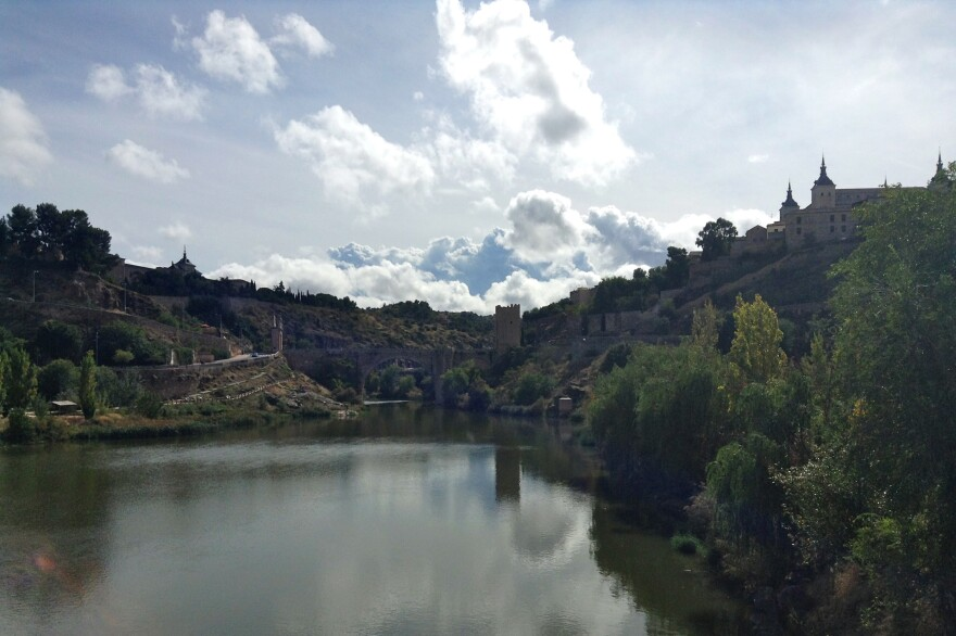 View of medieval bridge in Toledo, Spain, where El Greco once lived and painted.