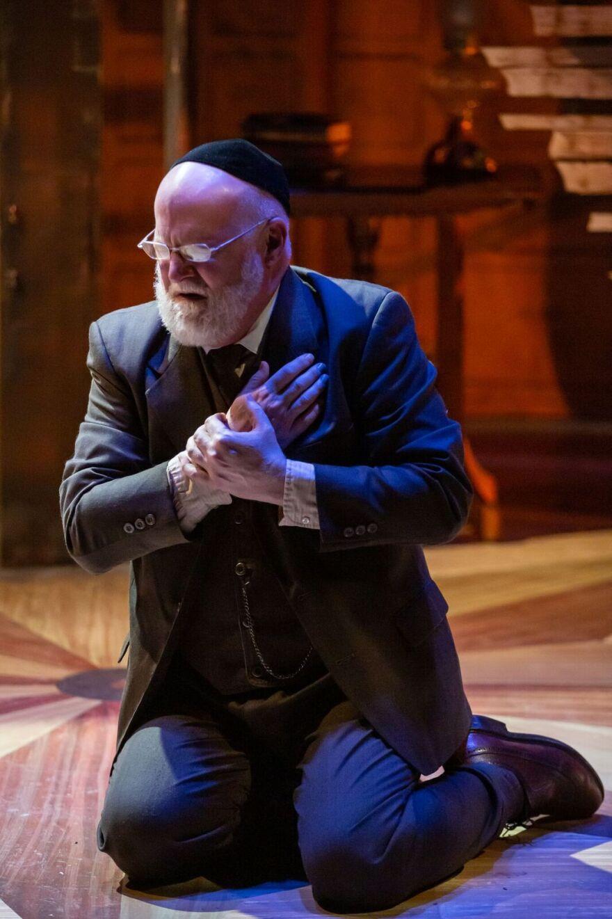 "Gary Wayne Barker plays Shylock, the moneylender of ""The Merchant of Venice"" and now ""District Merchants."" 1/24/19"