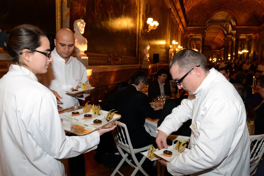 At Versailles, diners were regaled with a seven-course meal prepared by top chefs on Mar. 19.