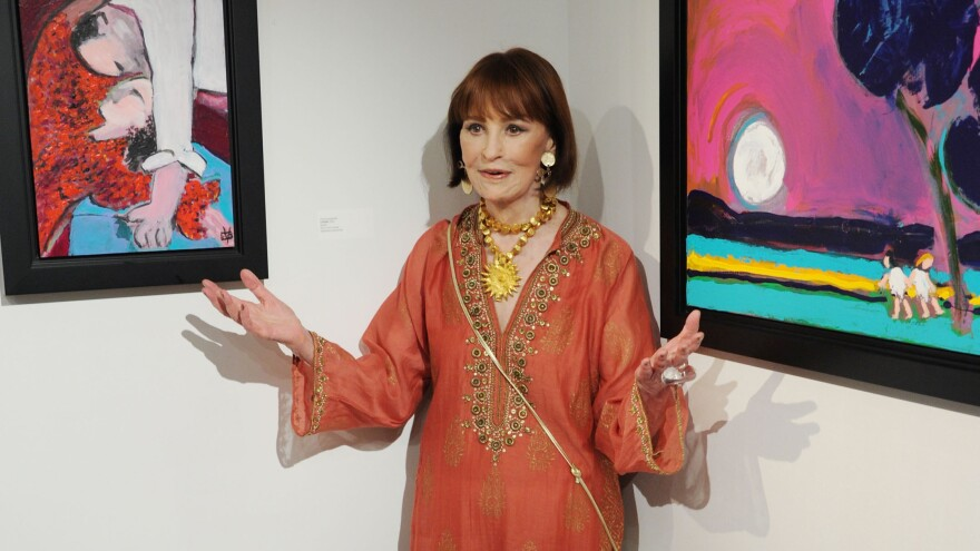Gloria Vanderbilt attends an exhibition of her artwork at New York's 1stdibs Gallery in 2012.