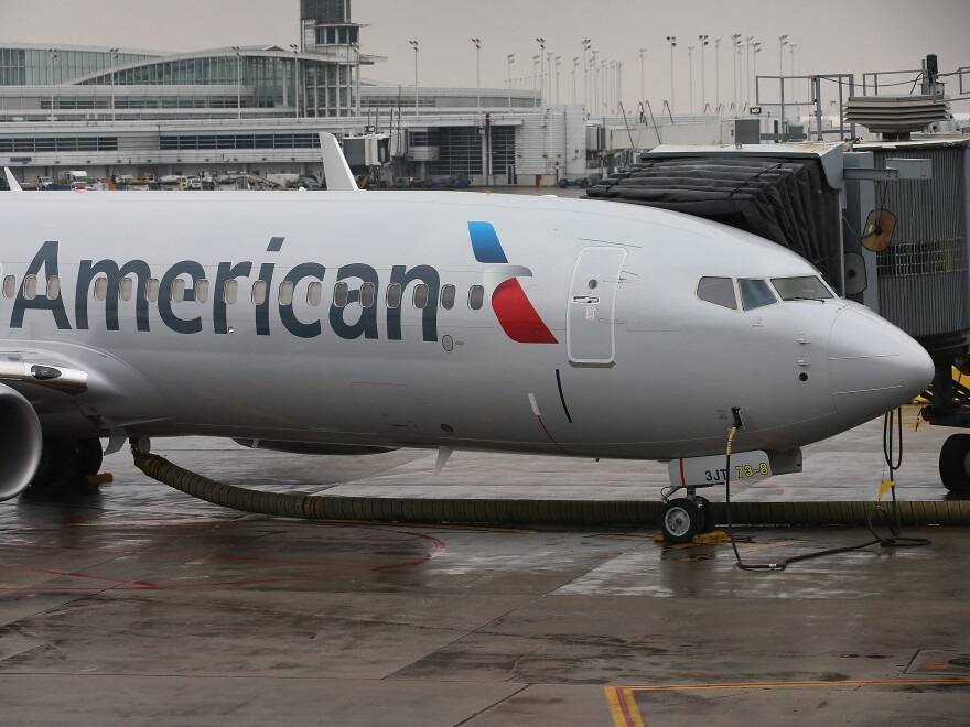 An American Airlines 737-800 aircraft in January. The 737-800 is one of several variants the FAA has ordered to be inspected.