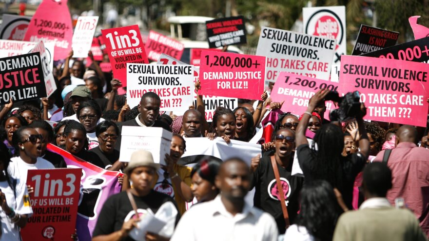 """Hundreds take to the streets in Nairobi on Thursday, calling for justice for a 16-year-old girl dubbed """"Liz,"""" who was gang raped in rural Kenya. The men were caught by the police and let go after their punishment — cutting the grass at the police station."""