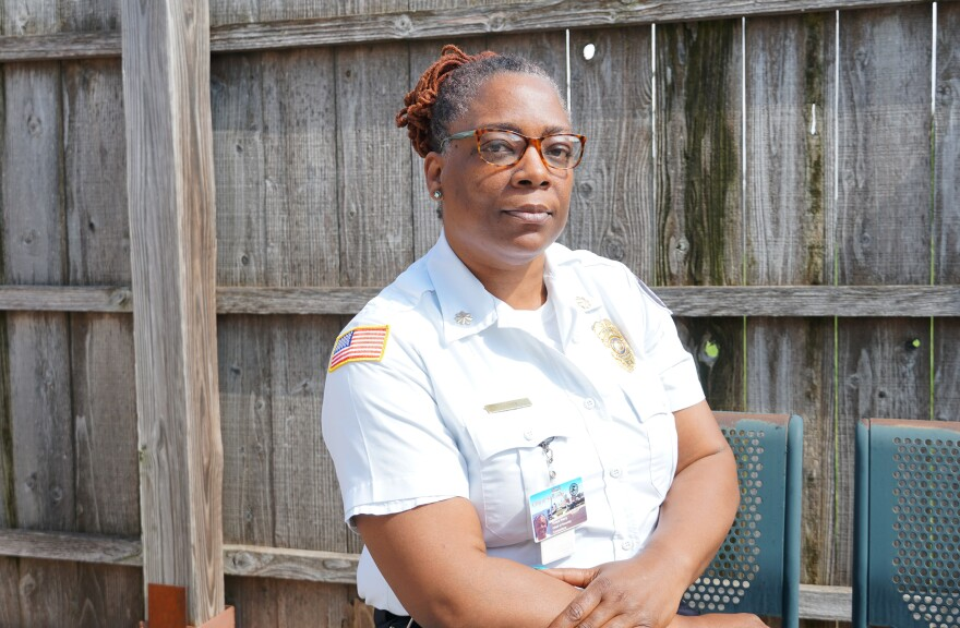 Tonya Harry, the chief of security at the Medium Security Institution in St. Louis photographed on May 1, 2019.