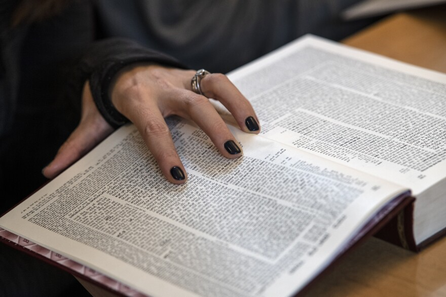 "Women in Orthodox Jewish communities were long discouraged from studying Talmud, but they are now increasingly taking part in study classes. <em>Daf Yomi</em>, or ""page a day,"" is the Jewish practice of reading the ancient book of rabbinic teachings. At a page a day, it takes almost 7 1/2 years to read the whole thing."