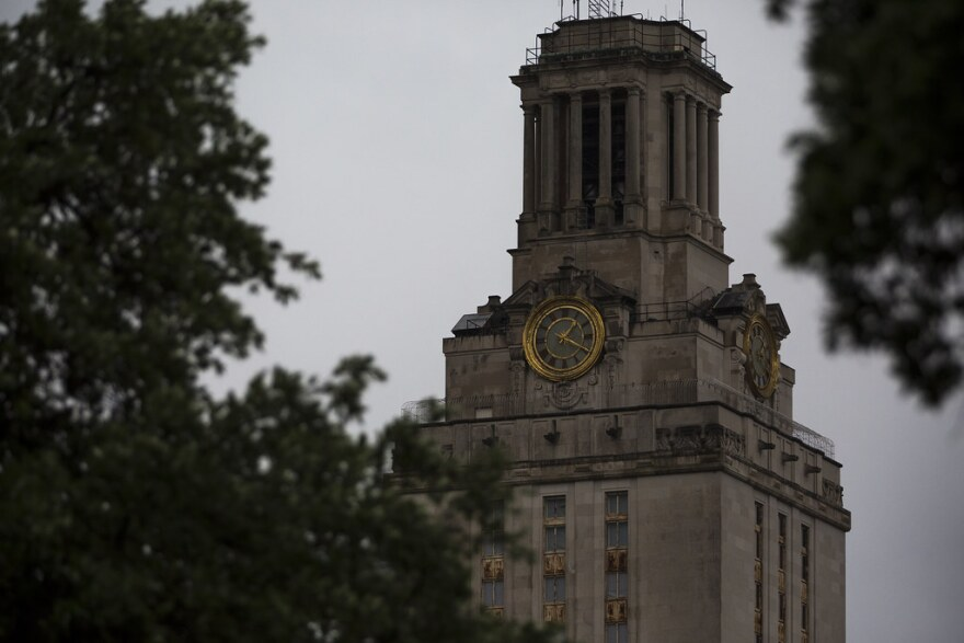 The tower at the University of Texas Austin campus.