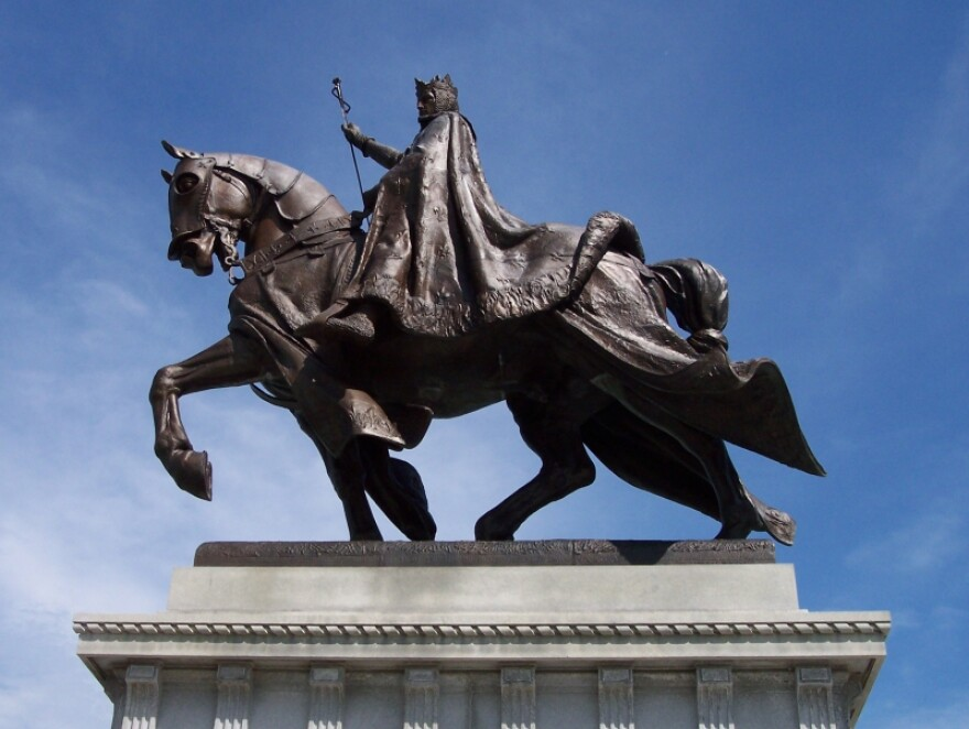 The statue of King Louis IX, the namesake of the city of St. Louis, has stood atop Art Hill in Forest Park since 1906. [6/29/20]