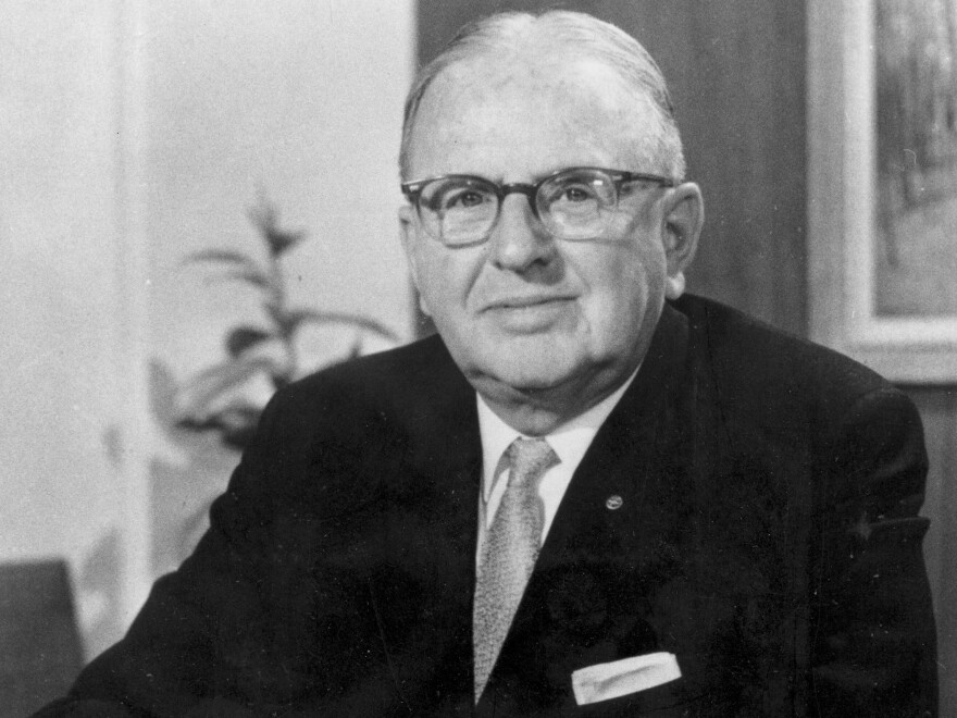 Dr. Norman Vincent Peale is shown in 1968 as pastor of Marble Collegiate Church in New York City. Peale served as pastor from 1932 to 1984.