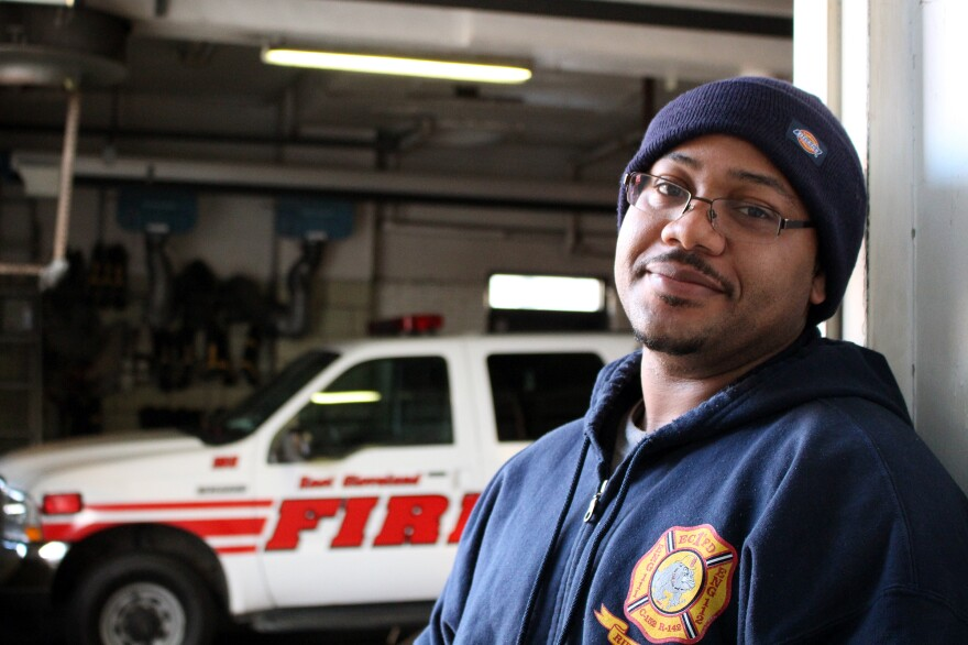 East Cleveland medic Anthony Savoy says his city's ambulances are diverted frequently to a hospital further away, and that can add one or two minutes to response times.