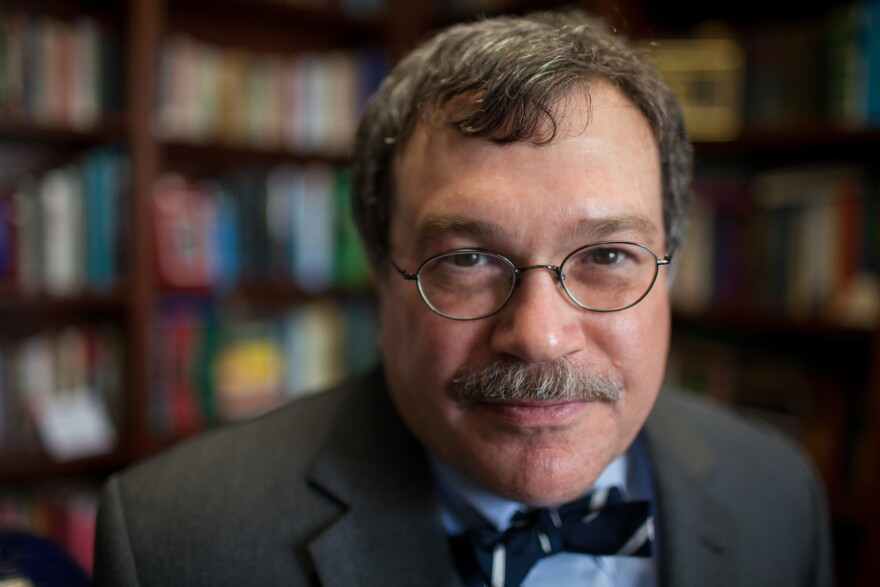 "Some people in the global health sector call him ""Bono with a bow tie."" Dr. Peter Hotez in his office at the Baylor College of Medicine in Houston."