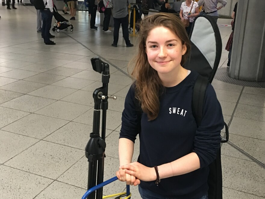 For Vicki Sayers, getting a license to busk on the Tube would be her way of getting into London's music scene.