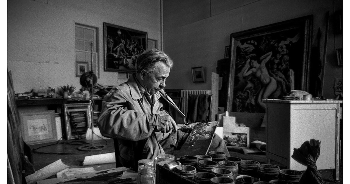 Photos Hidden Away For Decades Provide An Intimate Portrait of Thomas Hart Benton At Work In His Kansas City Studio