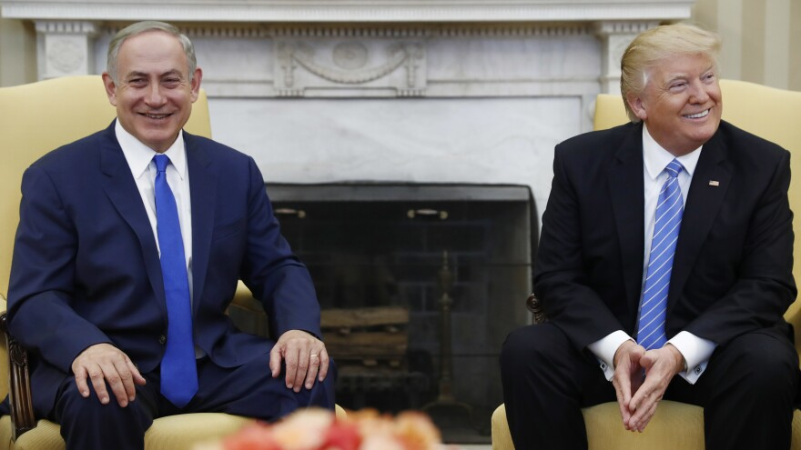 President Donald Trump and Israeli Prime Minister Benjamin Netanyahu met in the White House on Feb. 15. Netanyahu's muted reaction to the most recent threats and attacks on U.S. Jewish sites has drawn criticism from some in Israel.