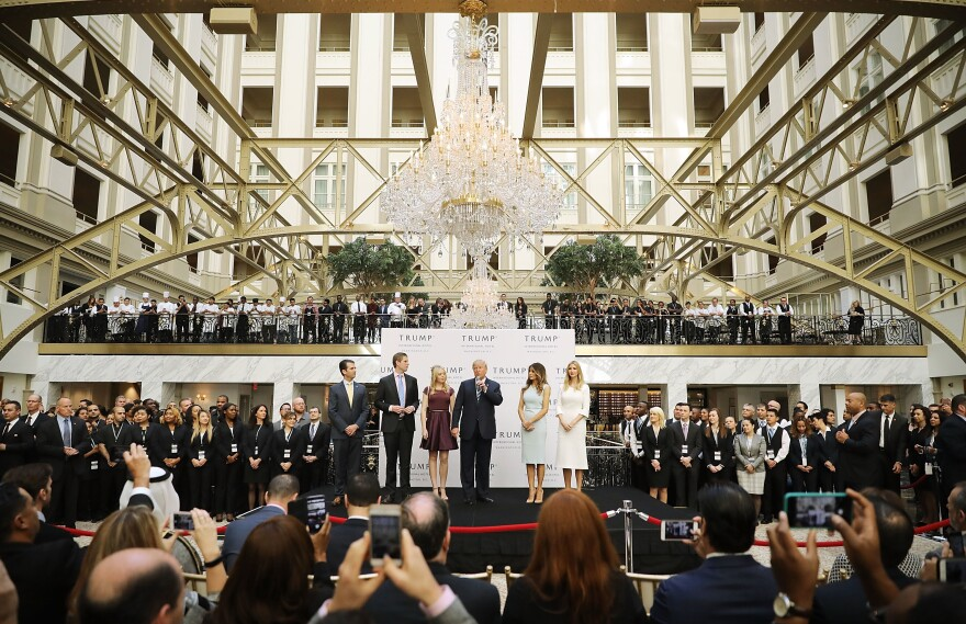 Donald Trump is in a legal battle with celebrity chef José Andrés, who pulled out of a plan to open a restaurant at the Trump International Hotel, built inside the historic Old Post Office in Washington, D.C.