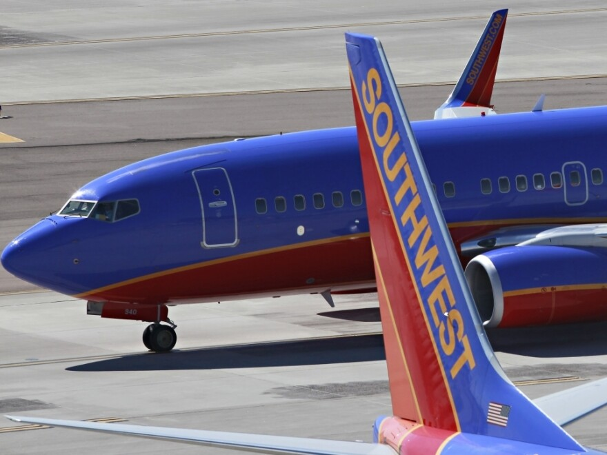 Southwest Airlines jets at Sky Harbor International Airport in Phoenix. (October 2010 file photo.)