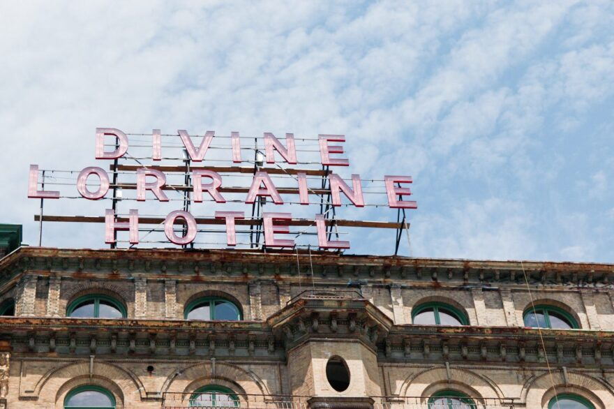 The Lorraine Apartments was renamed the Divine Lorraine Hotel in 1948 when it was purchased by spiritual leader Father M. J. Divine. (Dean Russell/Here & Now)